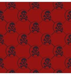 Red Skull Pattern vector image