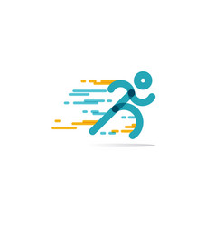 Run icon running man in motion symbol vector