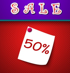 Sale Discount 50 percent Sign vector image