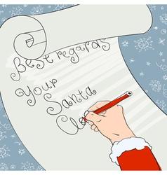 santa greeting signs vector image