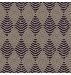 Seamless Navy Grey Color Hand Drawn Wavy vector