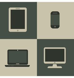 Set of media device icons vector image