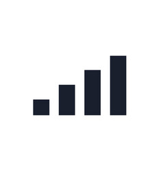 signal bar black icon phone wifi 5g vector image