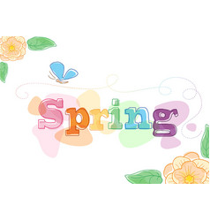 spring themed seasonal graphic vector image