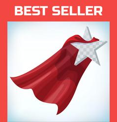 star concept in cape super cloak super vector image