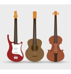 Stringed instruments set isolated icon design vector