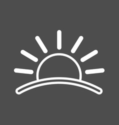 Sun icon sunset icon flat icon of sun sun eps vector