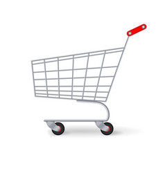 supermarket shopping cart empty classic vector image