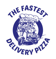 The fastest delivery of pizza vector
