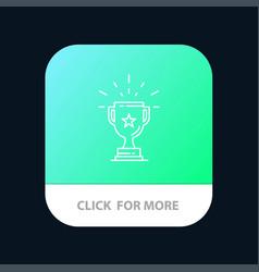 trophy achievement award business prize win vector image