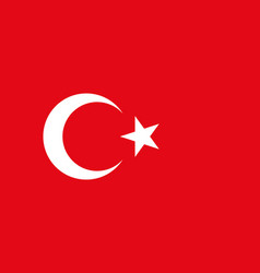 turkish flag flat layout vector image