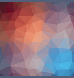 twin color polygonal background in coral peach and vector image