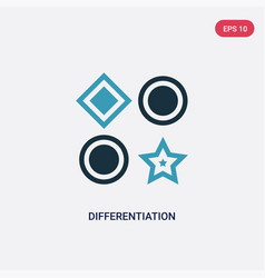 Two color differentiation icon from seo and web vector