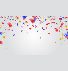 Usa independence day poster with balloons flag vector