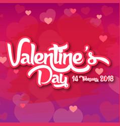Valentine day purple bg 2018 image vector