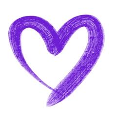 Violet heart vector