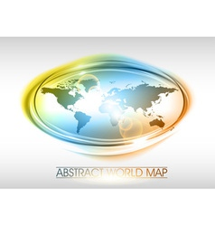 world abstract circle on white rainbow vector image vector image