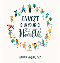 World health day of people vector