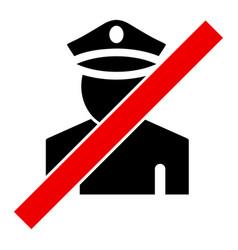 Wrong policeman - icon vector