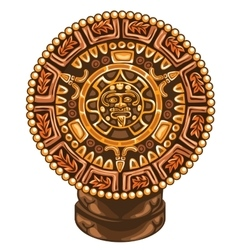 Ancient calendar of maya on white background vector