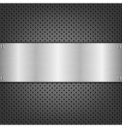 Background With Metal Plate vector image vector image