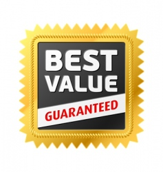 best value label vector image vector image