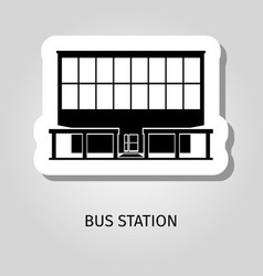 bus station building web sticker vector image vector image