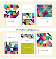 Collection Cover design for Brochure leaflet flyer vector image vector image