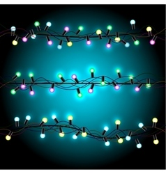 Glowing Christmas lights vector image vector image