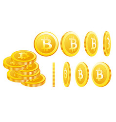 bitcoin icons isolated on a vector image