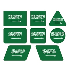 buttons with flag of Saudi Arabia vector image vector image