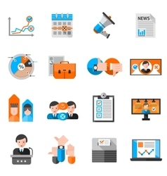 Color Icons For Elections Voting vector image vector image