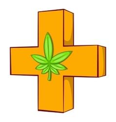 Medical marijuana sign icon vector image vector image