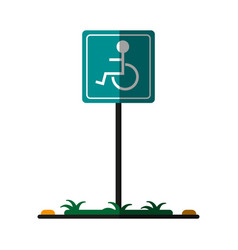 parking sign icon image vector image