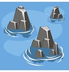 Sea rock island vector image