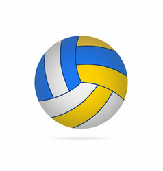 volleyball ball with shadow isolated on white vector image vector image
