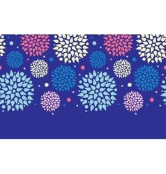 Colorful bursts horizontal seamless pattern vector