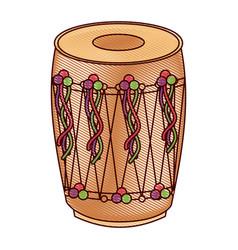 musical instrument punjabi drum dhol indian vector image