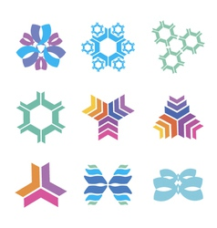 nanotechnology icons vector image vector image