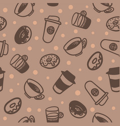 seamless background with a pattern of a cups of vector image