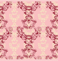 seamless pattern with ornamental vintage flowers vector image vector image