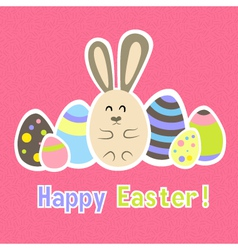 Easter colorful pink card template vector image vector image