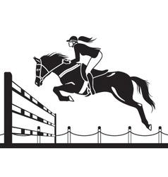 Jockey ride horse vector image