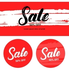 Sale up to 50 percents off Banner set vector image