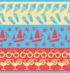 sea and summer seamless borders vector image