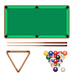 snooker and pool gaming elements isolated on white vector image vector image