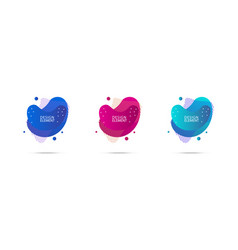 Abstract modern fluid banners with gradient color vector