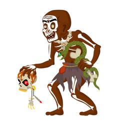 African voodoo witchcraft hoodoo shaman dungeon vector