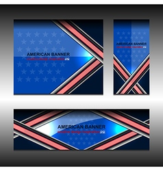 America Banners Design vector image