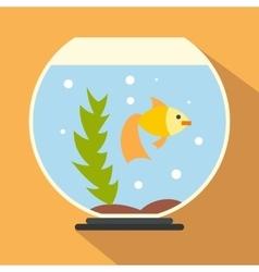 Aquarium flat icon vector